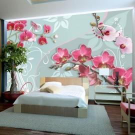 Fotomural - Orquídeas rosadas - variación II