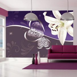 Fotomural - Lily in shades of violet