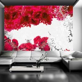 Fotomural - Colores de primavera: rojo
