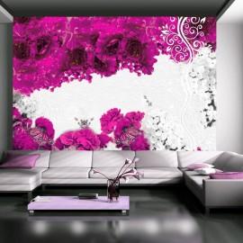 Fotomural - Colores de primavera: fucsia