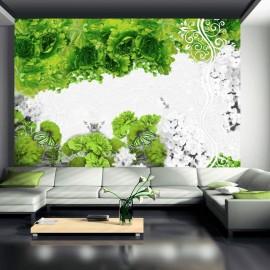 Fotomural - Colores de primavera: verde