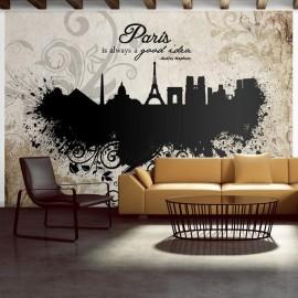 Fotomural - Paris is always a good idea - vintage