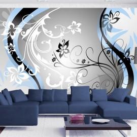Fotomural - Art-flowers (blue)