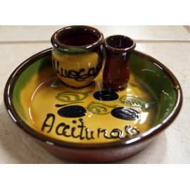 Plato para aceitunas artesanal de Cerámica