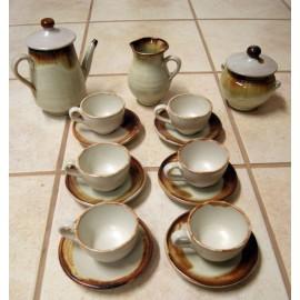 Juego de café artesanal de Cerámica