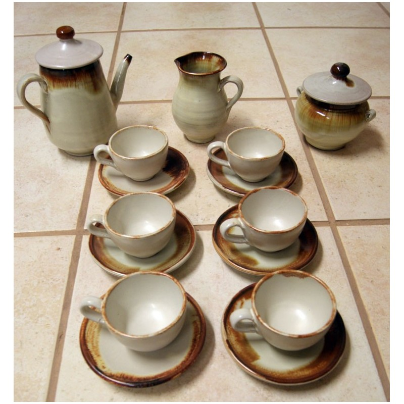 Juego de caf artesanal de cer mica for Juego tazas cafe