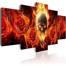 Cuadro - Cráneo ardiente