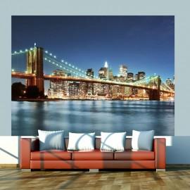Fotomural - Puente Brooklyn luminoso