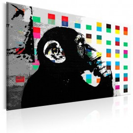 Quadro - Banksy The Thinker Monkey