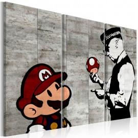 Quadro - Banksy: Mario Bros