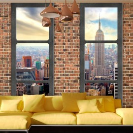 Papel de parede autocolante - The view from the window: New York