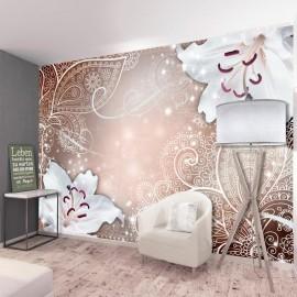 Papel de parede autocolante - Oriental Wings (Brown)