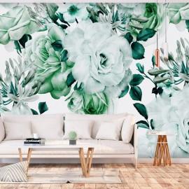 Papel de parede autocolante - Sentimental Garden (Green)