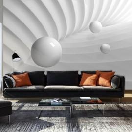 Fotomural autoadhesivo - Simetría blanco