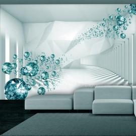 Fotomural autoadhesivo - Diamond Corridor (Turquoise)