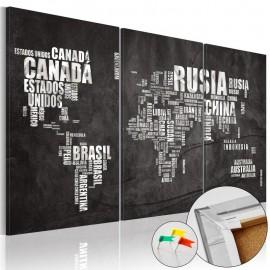 Quadro de cortiça - El Mundo [Cork Map]