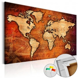 Quadro de cortiça - Amber World [Cork Map]
