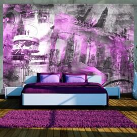 Fotomural - Berlín - colage (violeta)