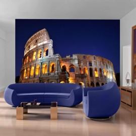Fotomural - El Coliseo y la noche en el fondo