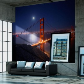 Fotomural - Golden Gate Bridge à noite
