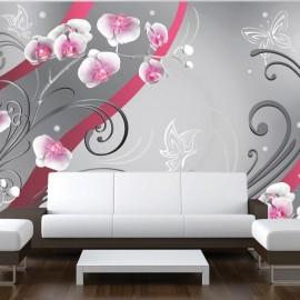 Fotomural - Pink orchids - variation