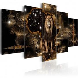 Quadro - Golden Lion (5 Parts) Wide