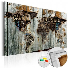 Tablero de corcho - Wooden Border [Cork Map]