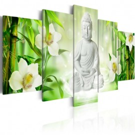 Quadro - Buddha and jasmine