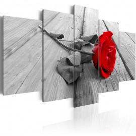 Cuadro - Rosa en la madera