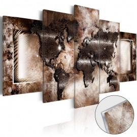 Cuadro acrílico - Platinum Map [Glass]