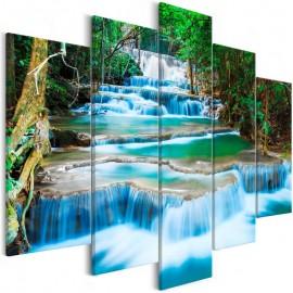 Cuadro - Waterfall in Kanchanaburi (5 Parts) Wide