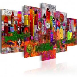 Quadro - Colourful Small Town