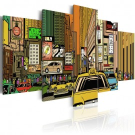 Quadro - The streets of New York City in cartoons