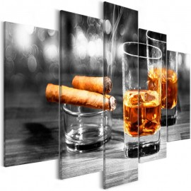 Cuadro - Cigars and Whiskey (5 Parts) Wide