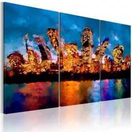 Cuadro - Mad city - triptych