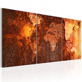 Cuadro - World Map: Old Rust