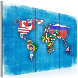 Cuadro - Banderas del mundo - tríptico