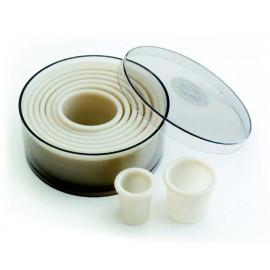 Caja de 9 cortapastas circular Nylon de Lacor