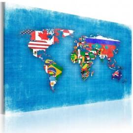 Quadro - Bandeiras do Mundo