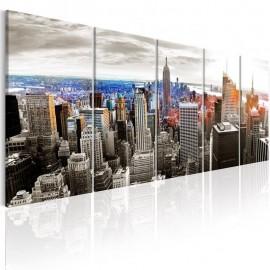 Quadro - New York: Grey Tower Blocks