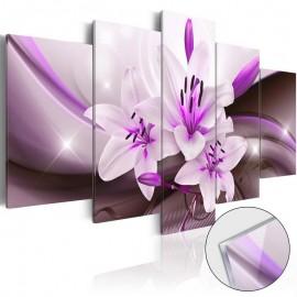 Cuadro acrílico - Violet Desert Lily [Glass]