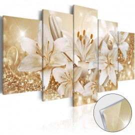 Quadro acrílico - Golden Bouquet [Glass]