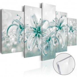 Cuadro acrílico - Sapphire Lilies [Glass]