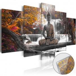 Quadro acrílico - Autumnal Buddha [Glass]