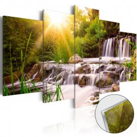 Quadro acrílico - Forest Waterfall [Glass]
