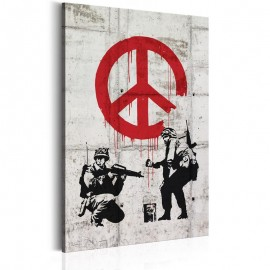 Quadro - Soldiers Painting Peace by Banksy
