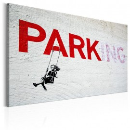 Cuadro - Parking Girl Swing by Banksy