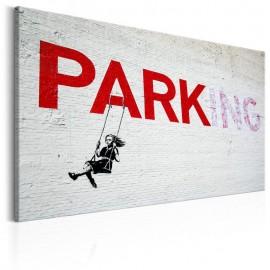 Quadro - Parking Girl Swing by Banksy