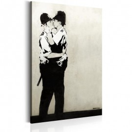 Quadro - Kissing Coppers by Banksy
