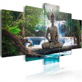Quadro - Buddha and waterfall
